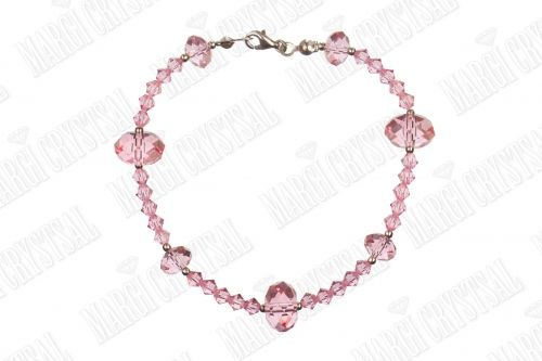 Гривна с мъниста Swarovski,  Light Rose