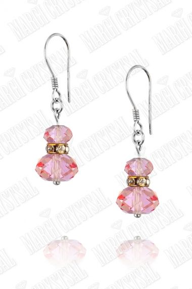 Обеци с мъниста Swarovski,  Light Rose