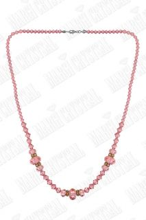 Колие с мъниста Swarovski,  Light Rose