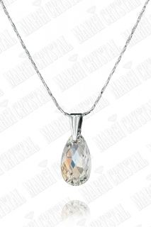 Колие с кристали Swarovski Капка (Pear-shaped) 16 мм, синджир